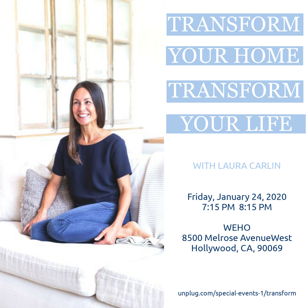 Join me, Laura, in West Hollywood on Friday, January 24 from 7:15-8:15pm as I discuss turning your home into a powerful tool for manifestation. Learn more at http://unplug.com/special-events-1/transform ….  #inspiredeverydayliving #unplug #manifestation #homemaking #happyhome #simpleliving #livesimplypic.twitter.com/ZWujkRc67B
