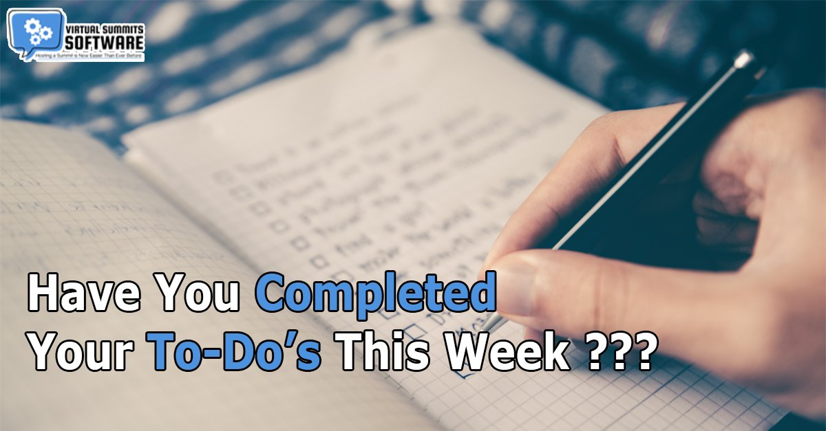 Hello Summit Tribe! Thank God it's Friday again! Have you completed your To-Do's this week?  #summitscripts #virtualsummit #virtualsummithost #virtualsummitstrategy #virtualsummittips #virtualsummitsuccess #profitablevirtualsummit #virtualsummitemail #virtualsummitcopy pic.twitter.com/RDJchTvYk8