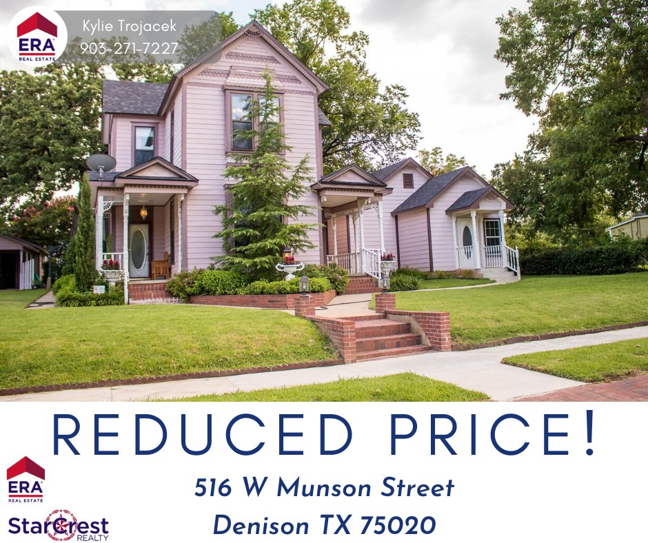 New pricing in Denison! Contact Kylie for a private tour!  #ERAStarCrest #ERA #PriceReduction #NewPricing #ListingAgent #SellersAgent #DenisonRealtor #DenisonTx #DenisonRealEstate #VictorianHome #HouseForSale #DenisonISD #Moving #BuyingAHome #SellingAHomepic.twitter.com/LZCQPdop3I