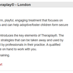 Image for the Tweet beginning: PAC-UK Training: Introduction to @Theraplay