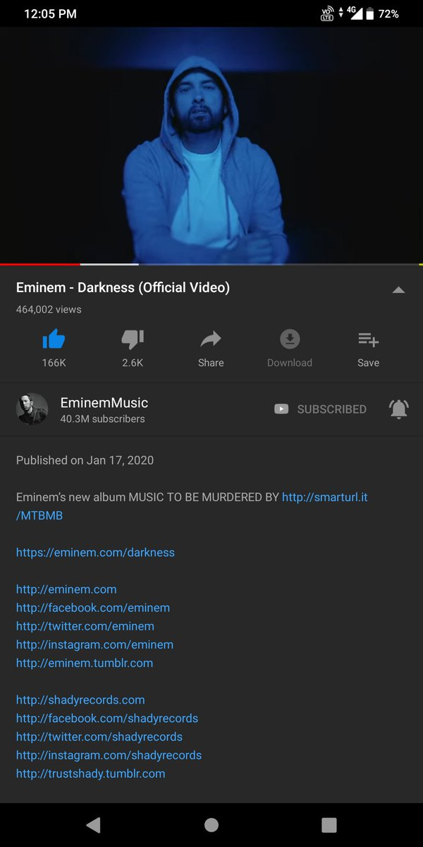 A little late for Twitter!! The G.O.A.T  went fucking crazy on this new album. Every song is straight @Eminem #eminem #MusicToBeMurderedBy #eminemstans #eminemdarkness  this year finna be lit!!!pic.twitter.com/0qFIU71dxe