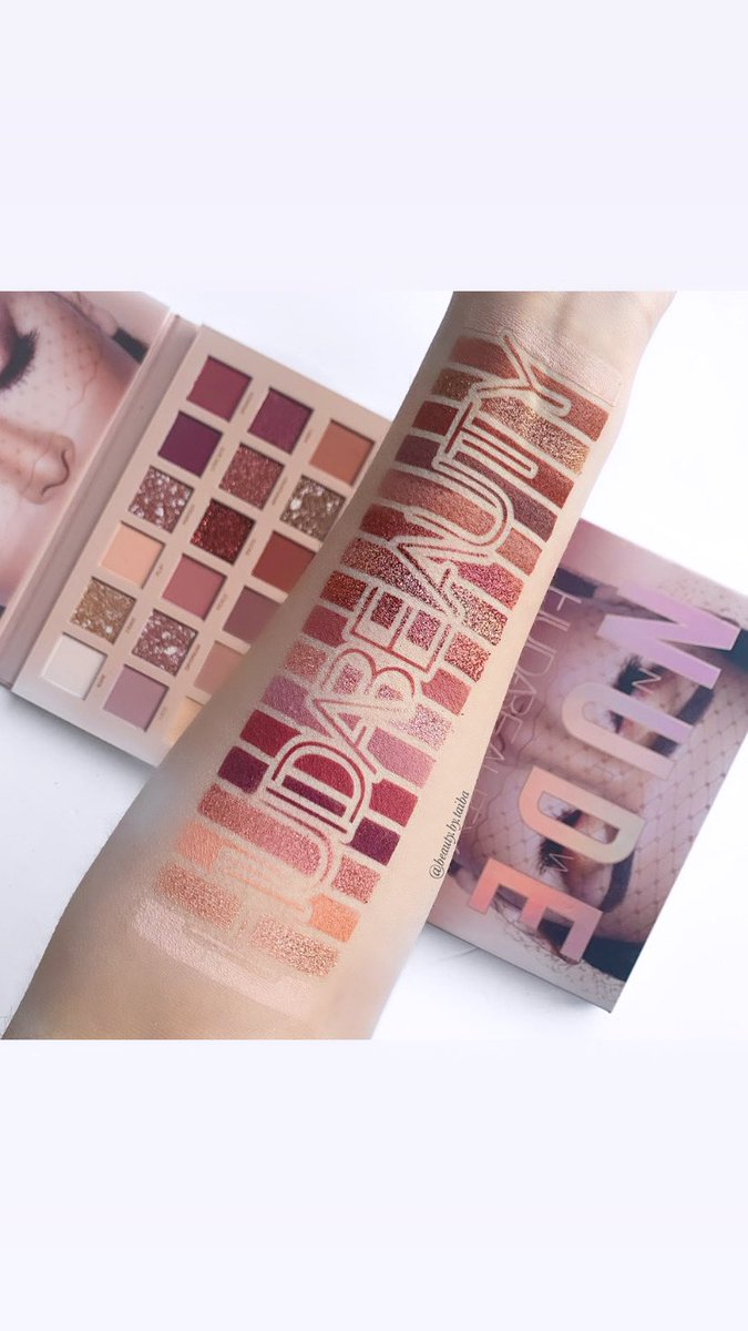 Swatches of @hudabeauty new nude palette my favorite palette ever @MonaKattan @kayalifragrance @HudaBeautyshop #hudabeauty #newnudepalette swatch stencils used by @SwatchPerfect will be available to buy on 25th of this month xpic.twitter.com/y5LHDUkLcg