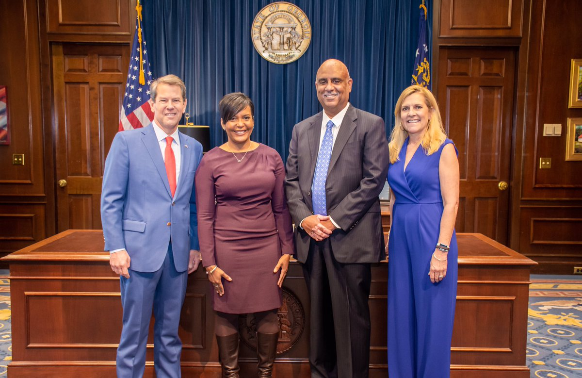 Mayor @KeishaBottoms attended @GovKemps State of the State Address. The City of Atlanta looks forward to continuing to work with our partners at the State to improve the lives of all Georgians. #OneAtlanta