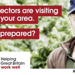 Image for the Tweet beginning: HSE inspectors are visiting farms