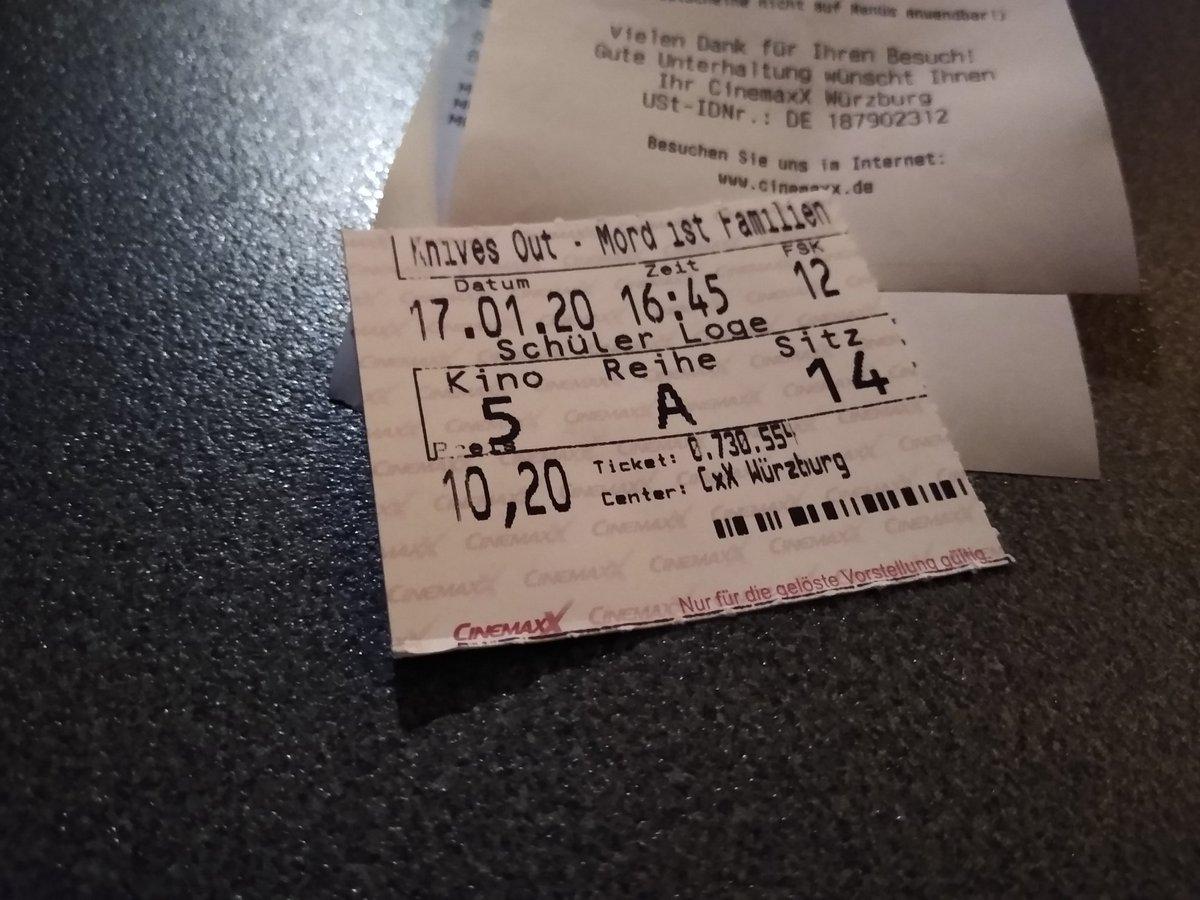 Mein erster Kinofilm in dem Jahr und bin gespannt ^^ pic.twitter.com/DKkvKQZJDN