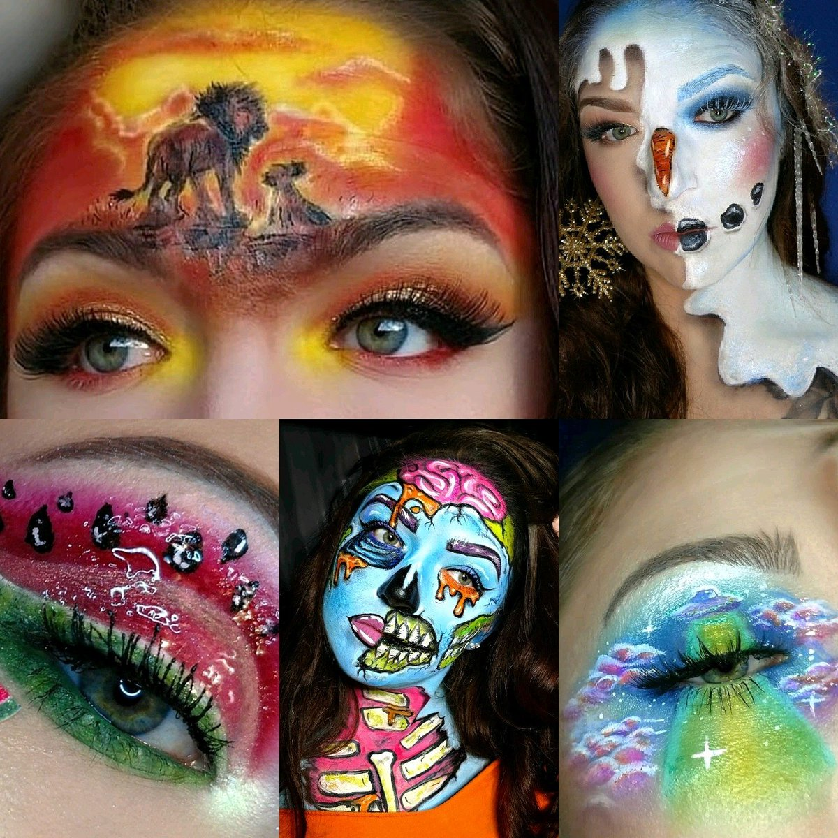 Bodypaint or face paint a celebrity or influencer  <br>http://pic.twitter.com/kBjqAePawy