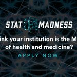 Image for the Tweet beginning: The application deadline for #STATMadness