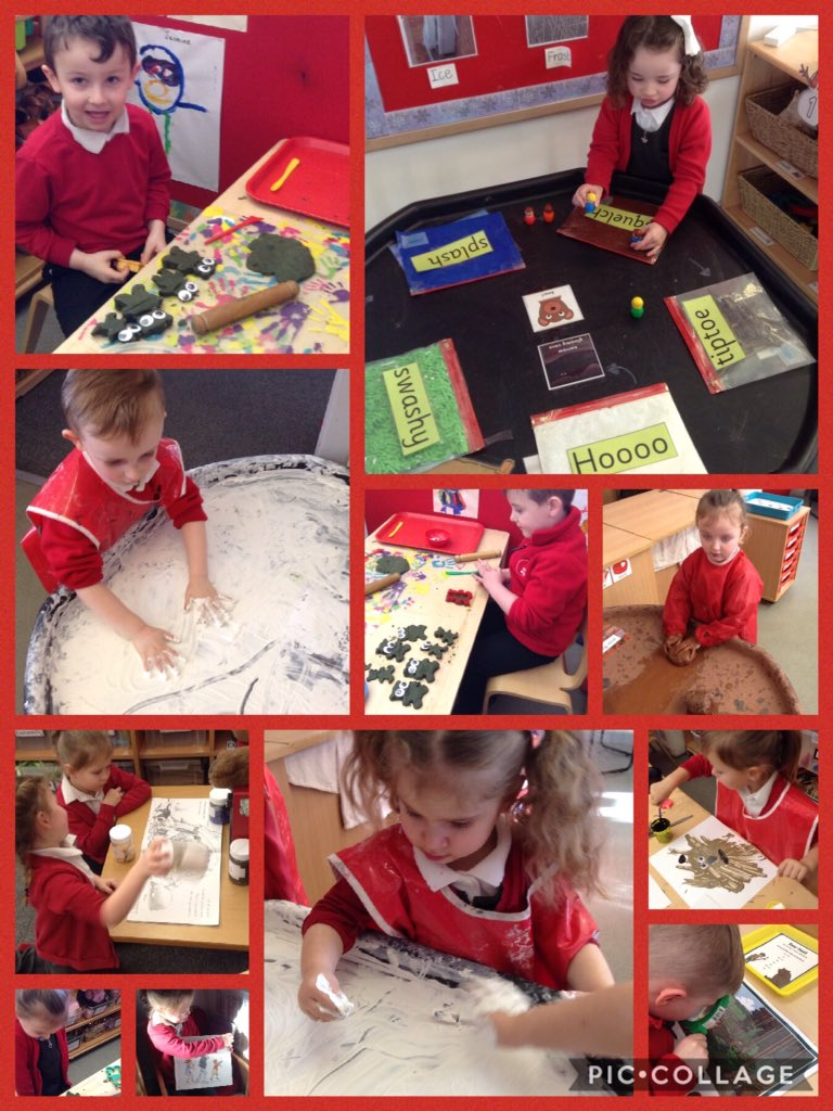 This term we are looking at the story We're going on a bear hunt by @MichaelRosenYes. We have enjoyed lots of activities influenced by the book. @HumberEdTrust @Booktrust @Talk4Writing #engaging #reading #makingitreal #continuousprovision #EYFS