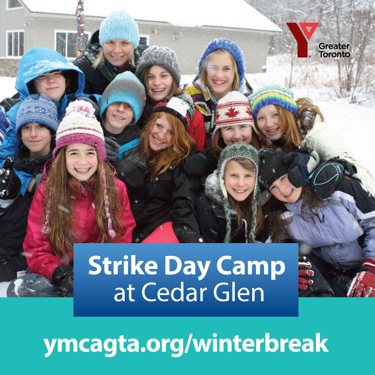 January 20 & 21, 2020 9:00 am–4:00 pm *Extended care: 7:30 am–6:00 pm  With school boards on one-day strikes, YMCA Cedar Glen is offering day camp programs! Campers aged 4 to 12 can explore nature, use the climbing wall, do arts & crafts, enjoy the campfire, play games, and more! pic.twitter.com/cUcr6aHHq2