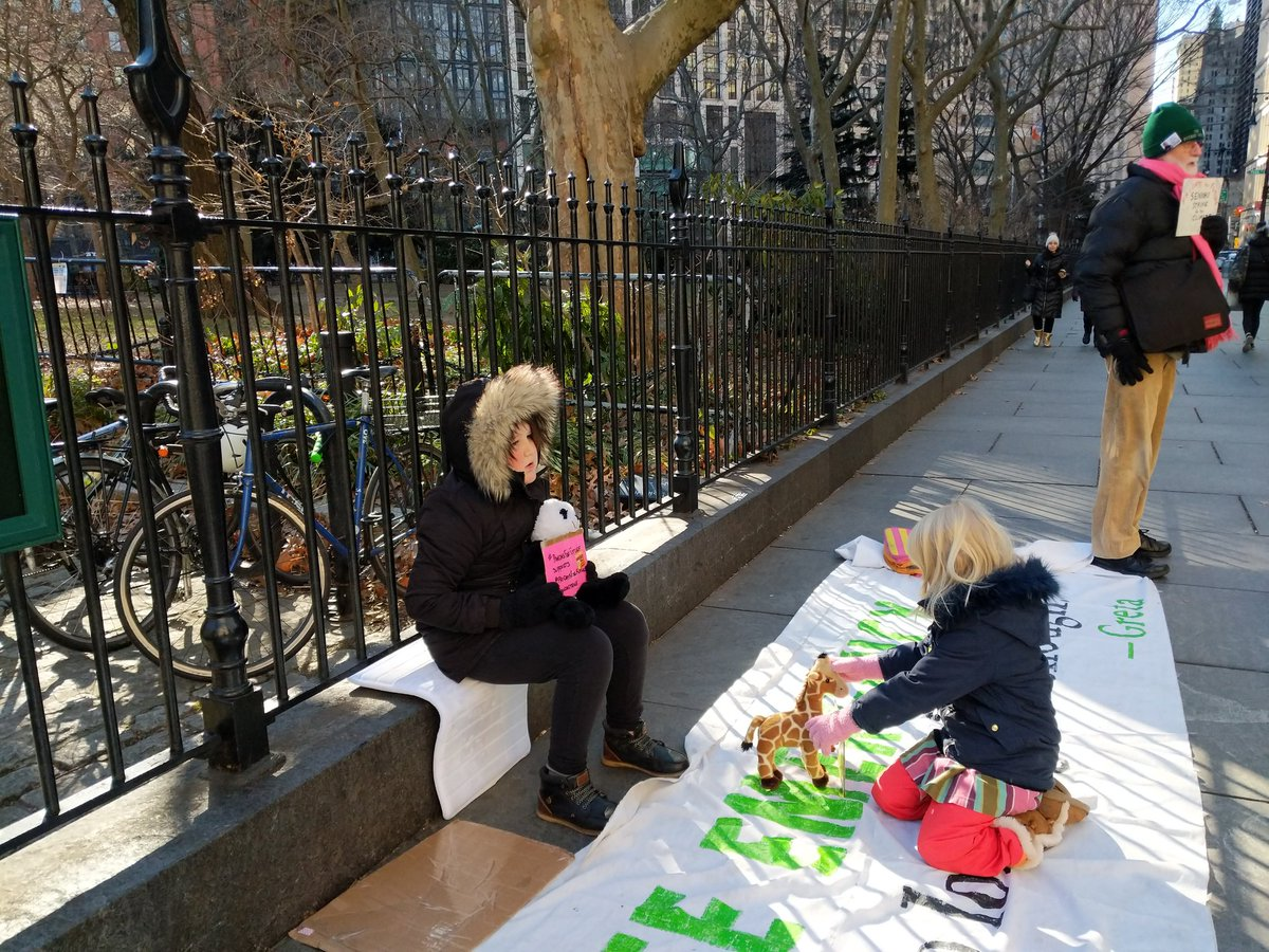 Strike at #CityHall strike again. Won't stop. #ClimateEmergency #ClimateStrike @FFF_USA