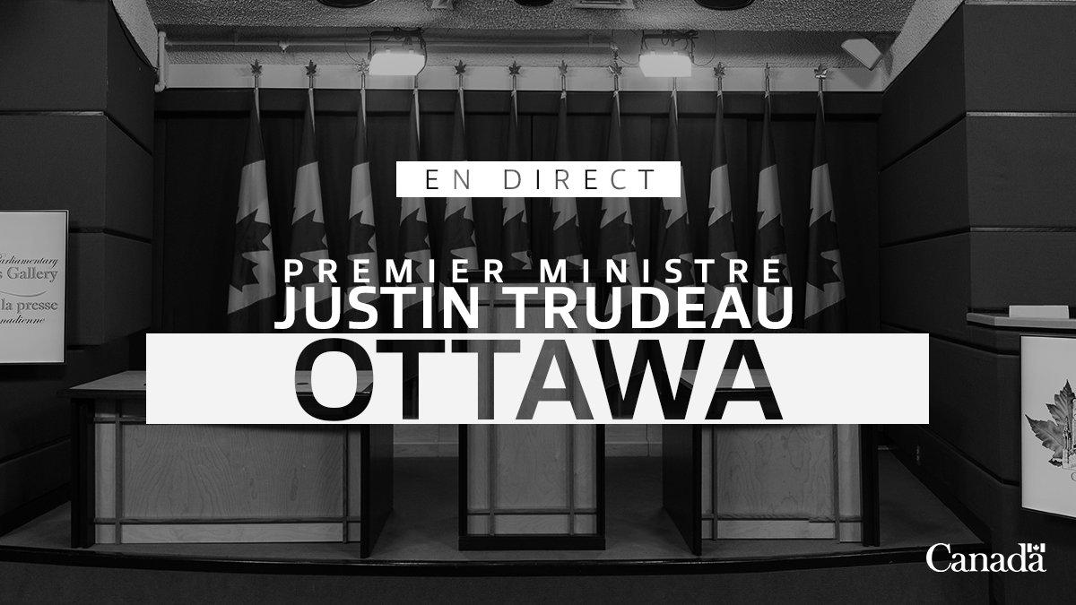 En direct: le premier ministre Justin Trudeau s'adresse aux Canadiens pour faire le point sur la tragédie du vol PS752, puis tient un point de presse. http://ow.ly/tGGM50xYb6C