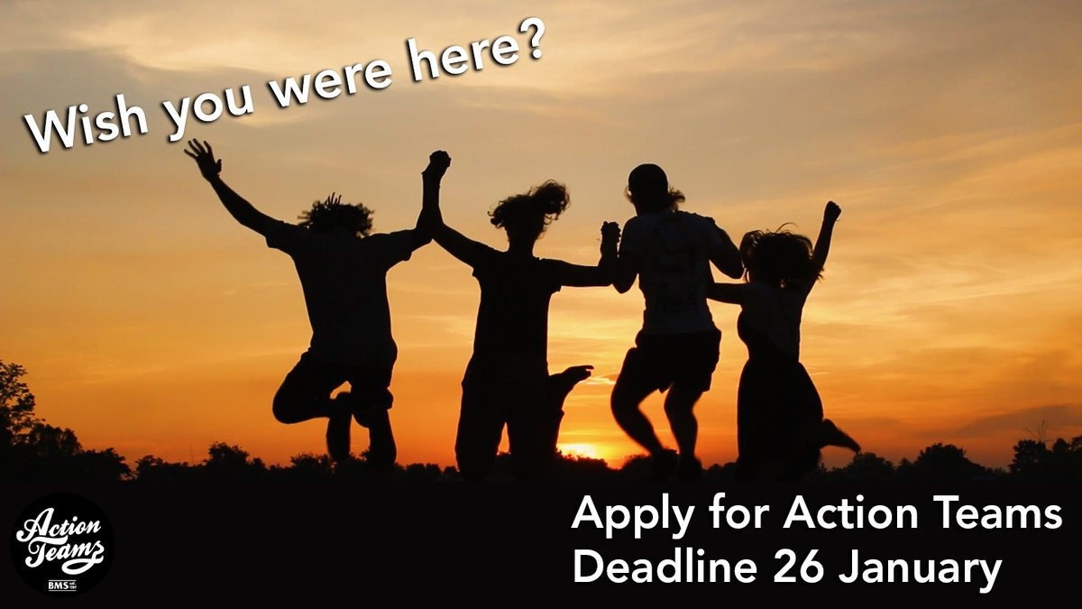 test Twitter Media - There's still time to apply for Action Teams!!If you're between the ages of 18-23 and looking to do a gap year, or know someone who is, head to https://t.co/cR6DQ00AGF to apply for BMS' Action Teams programme!The deadline to apply is 26 January, so be sure to apply today! https://t.co/7VYZJ95v8p