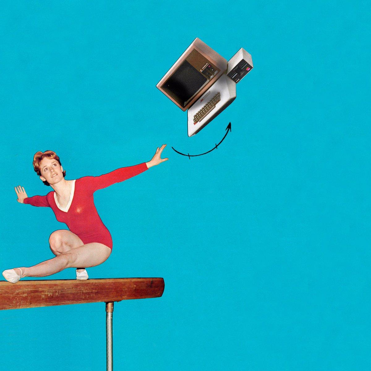 Equilibrio artístico / Artistic balance . #collage #collagear #collagecollectiveco #mujeresquecortanypegan #collageoftheday #collageartist  #art #arte #artwork  #cutandpaste #mallot #lumese #gym #gimnastics #gimnasiaartistica #mac #bluepic.twitter.com/pMDgL8Zv2d