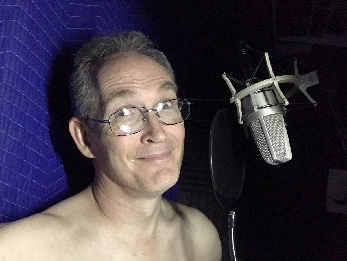 I took my shirt off in the booth because it was making too much noise. I may or may not be wearing pants.  . . #vo #voiceover #voiceactor #vegasvoiceactor #actorslife #voiceacting #casualfriday pic.twitter.com/eNLZYDyJ6n