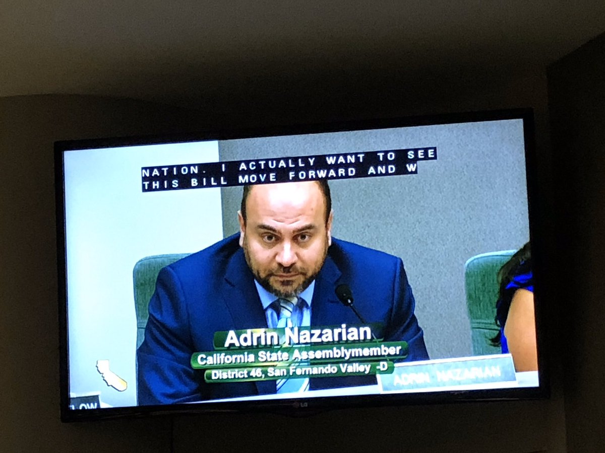 Thank you @Asm_Nazarian for your support of #AB495 in today's Health Committee. We too want to see this bill move forward which is why we will reintroduce it this year! #toxicfreecosmetics #safecosmeticspic.twitter.com/geanUXvzpj