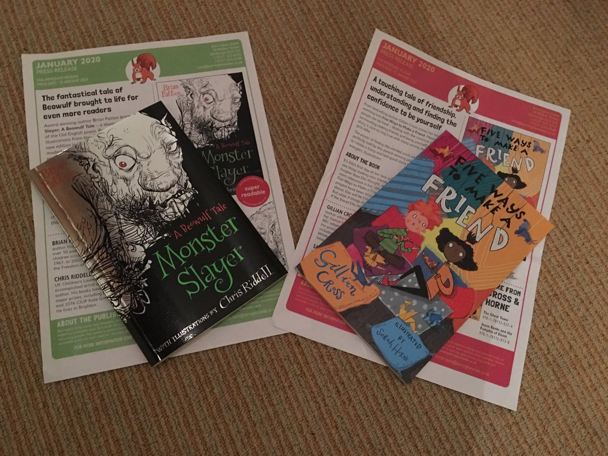 Two new books to read and share - thank you @BarringtonStoke #bookchat