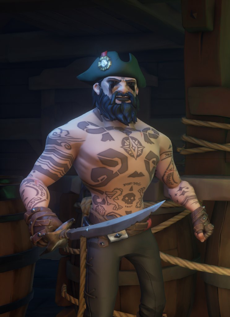 """Dark Merc"" posted by u/7Wolf in r/SeaOfFashion  #SeaOfFashion #BeMorePirate #SoTShot #SeaOfThieves"