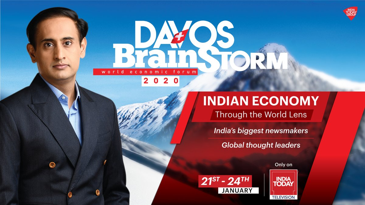 #IndiaTodayAtDavos20 Watch brainstorming sessions from the #WorldEconomicForum, to be held in Davos, #Switzerland, from January 21-24, only on India Today TV with @rahulkanwal.pic.twitter.com/ljkmCSKxu6