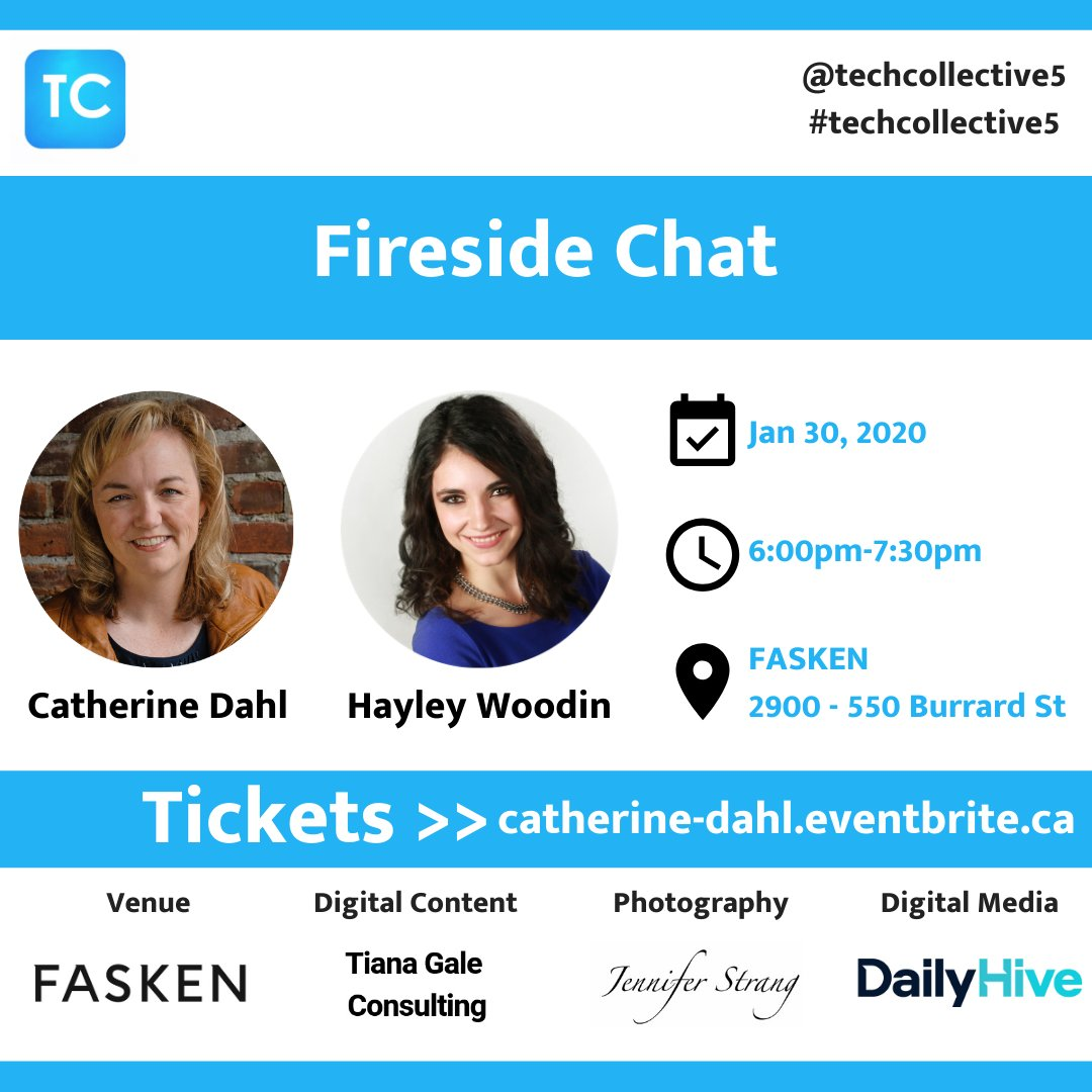 Want to know more about building #startups, and raising capital? Join us for @techcollective5 #event w/ Catherine Dahl, and @hayleywoodin @BIVnews! Tickets >> http://catherine-dahl.eventbrite.ca  #vancouver #event #yvr #tech #bctech #techcollective5 #startuplifepic.twitter.com/z9OcPYHpwF