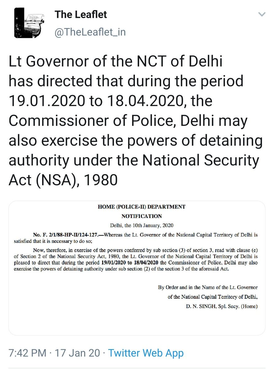 Chronology explained..!Emergency is back in formal way at least in Delhi. Long live democracy..!#ShaheenBaug to be attacked..! #WeRejectCAA_NPR_NRC