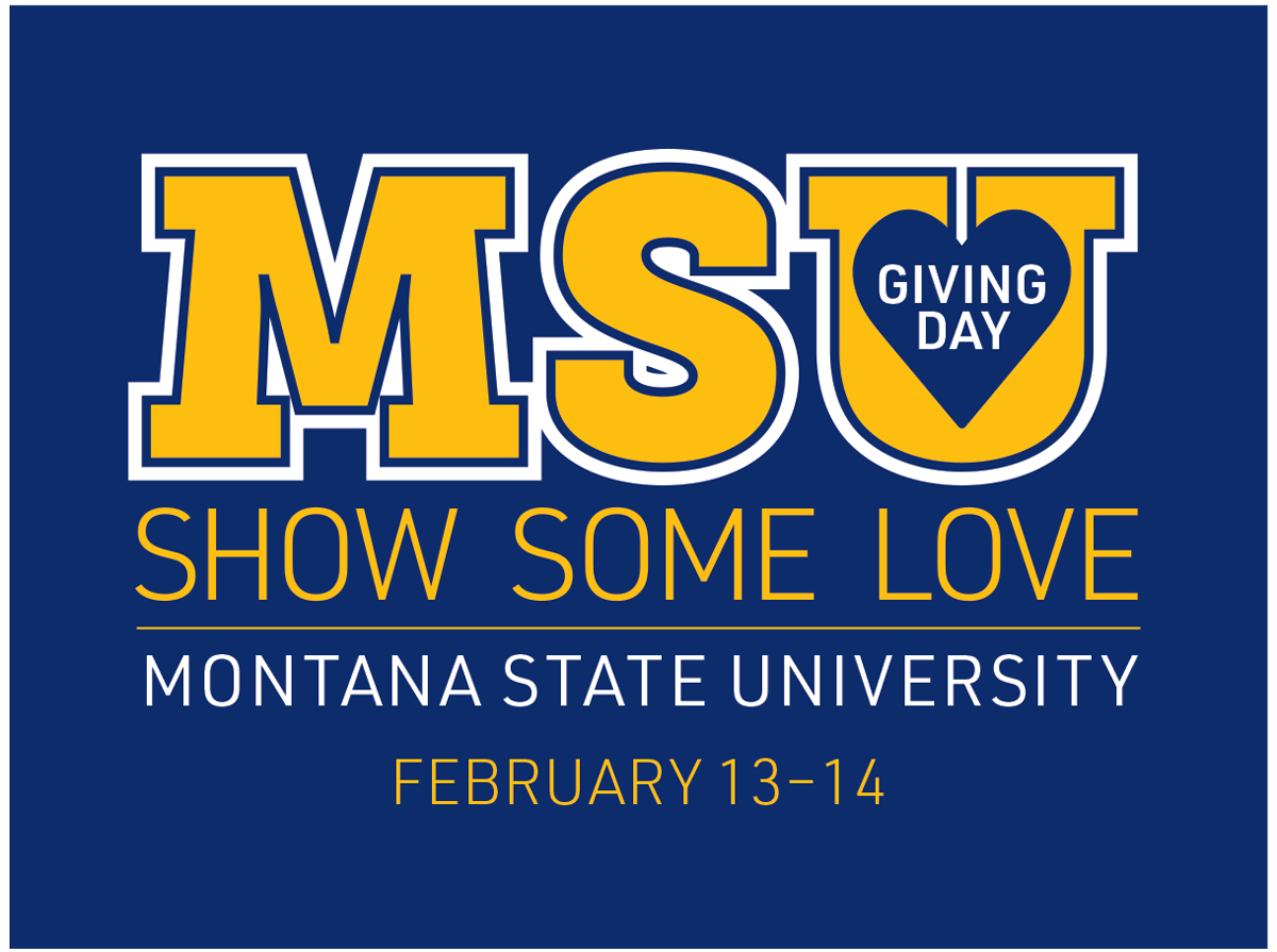SAVE THE DATE!  Join in and show some love Feb. 13-14 on MSU Giving Day, a 29-hour, online crowd-fundraising event that aims to provide support to some 60 projects for the people, places and programs from all across campus.  #msugivingday #showsomelove #montanastatepic.twitter.com/nDNdQpir1c