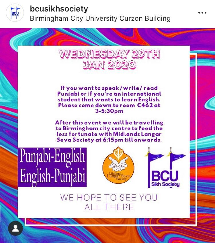WJKK WJKF Happy New Year to you all! Hope everyone is well and getting back into the stride of uni work & exams.  Our first event back is on the 29th of January, where we will be having fun learning & exploring Punjabi & English, striking up interesting conversations.  . pic.twitter.com/hHh1ehnkXv