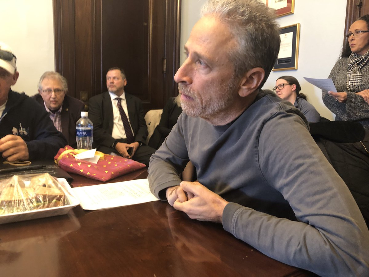 """""""My goal is to make sure the voices of those impacted are heard."""" - Jon Stewart #ToxicExposures"""
