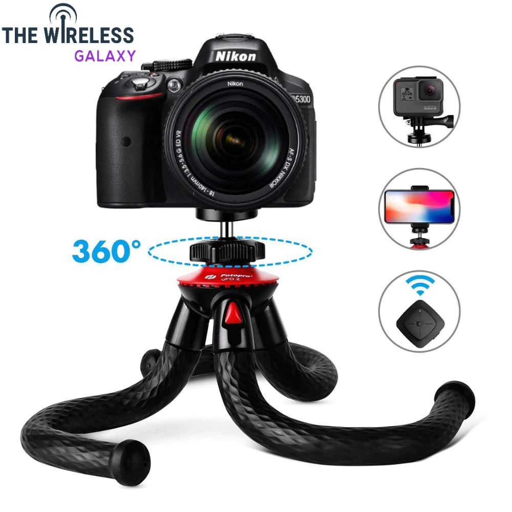 Photopro Mobile Tripod, Flexible Tripode with Ball Bearing, Mini Tripod with Bluetooth, Portable Tripod with Screw 1/4'' for iPhone, Samsung Galaxy, Huawei, Gopro.  https://thewirelessgalaxy.com/product/photopro-mobile-tripod-flexible-tripode-with-ball-bearing-mini-tripod-with-bluetooth-portable-tripod-with-screw-1-4-for-iphone-samsung-galaxy-huawei-gopro/….  27.98.#technologyrules pic.twitter.com/SlpTfwJXcq