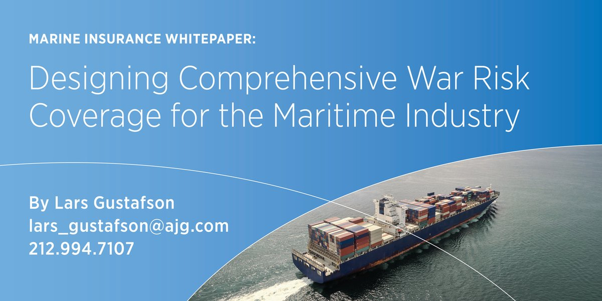 Read our latest whitepaper to learn about how war risk insurance coverage can keep your business protected while operating in a maritime conflict area. bit.ly/365uBlE