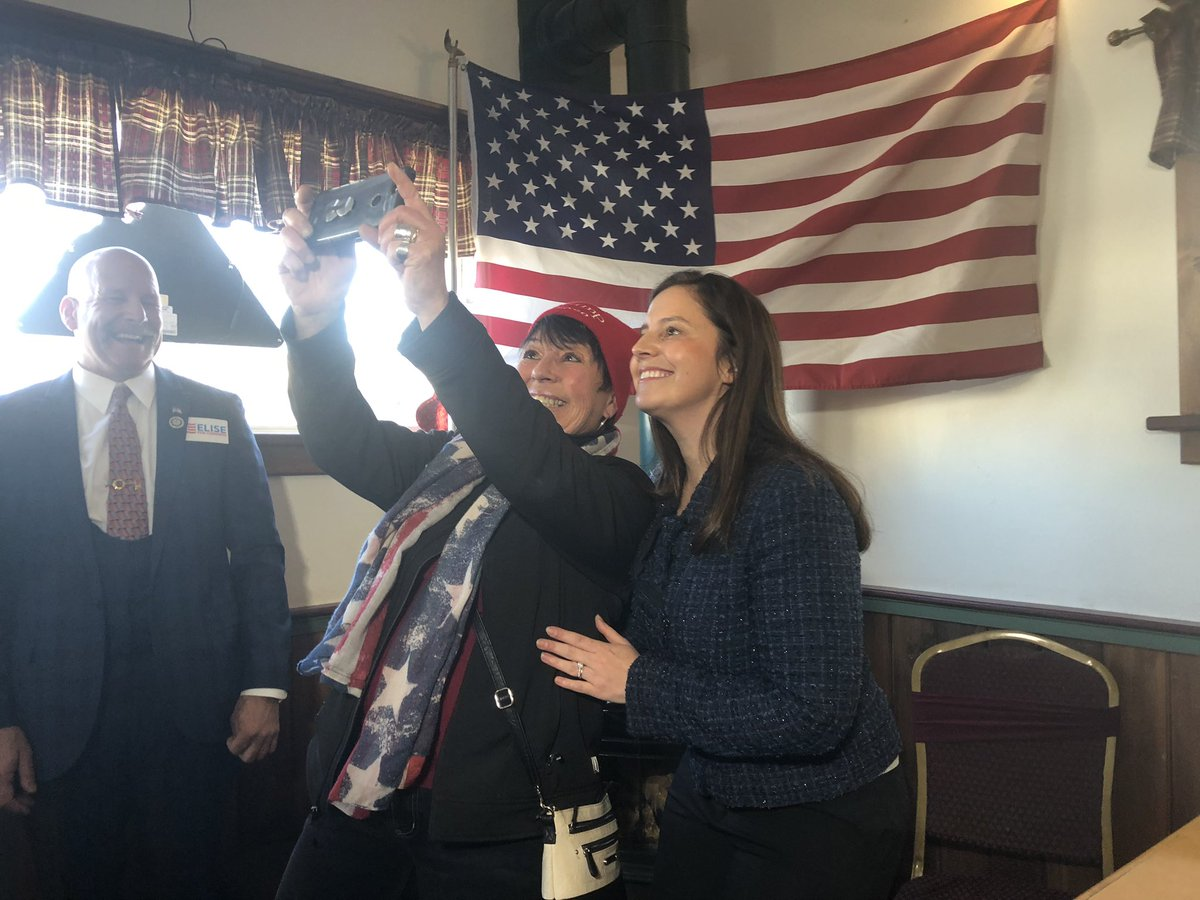 Shadowing @EliseStefanik for some time today as she heads on a district tour in Johnstown. Starting the afternoon at a pub for a lunch with supporters