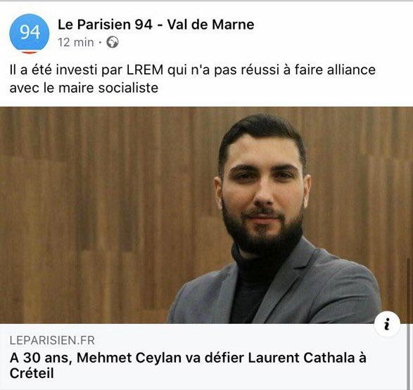 Bravo à toi @MehmetCeylan_94 pour ton investiture à Créteil !   Tous mes vœux de succès dans cette campagne qui te donne l'occasion de confirmer l'excellent travail accompli chez les @JeunesMacron !