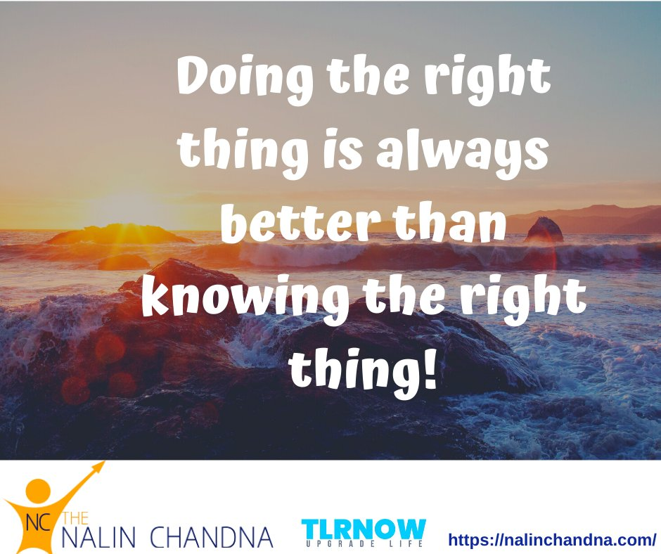 Doing the right thing is better than knowing it.  #Friday #tlrtalks #FridayMotivation #FridayThought #middleeastcollege #tlrnow #leadershipspeaker #inspirationalspeaker #personalgrowth #muscat #oman #motivation #motivationalspeaker #motivationalquotes #inspiration #success #UAE<br>http://pic.twitter.com/0GXdve1Fv2