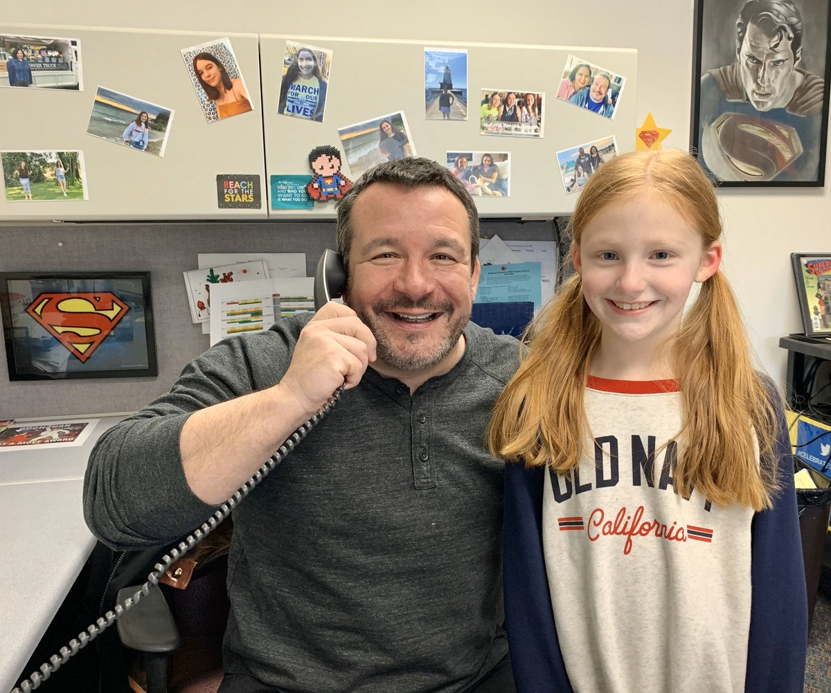"""Congratulations to Sage in third grade! She was our """"Positive Phone Call"""" of the day! 👍🏼📞 #BuchananBears"""