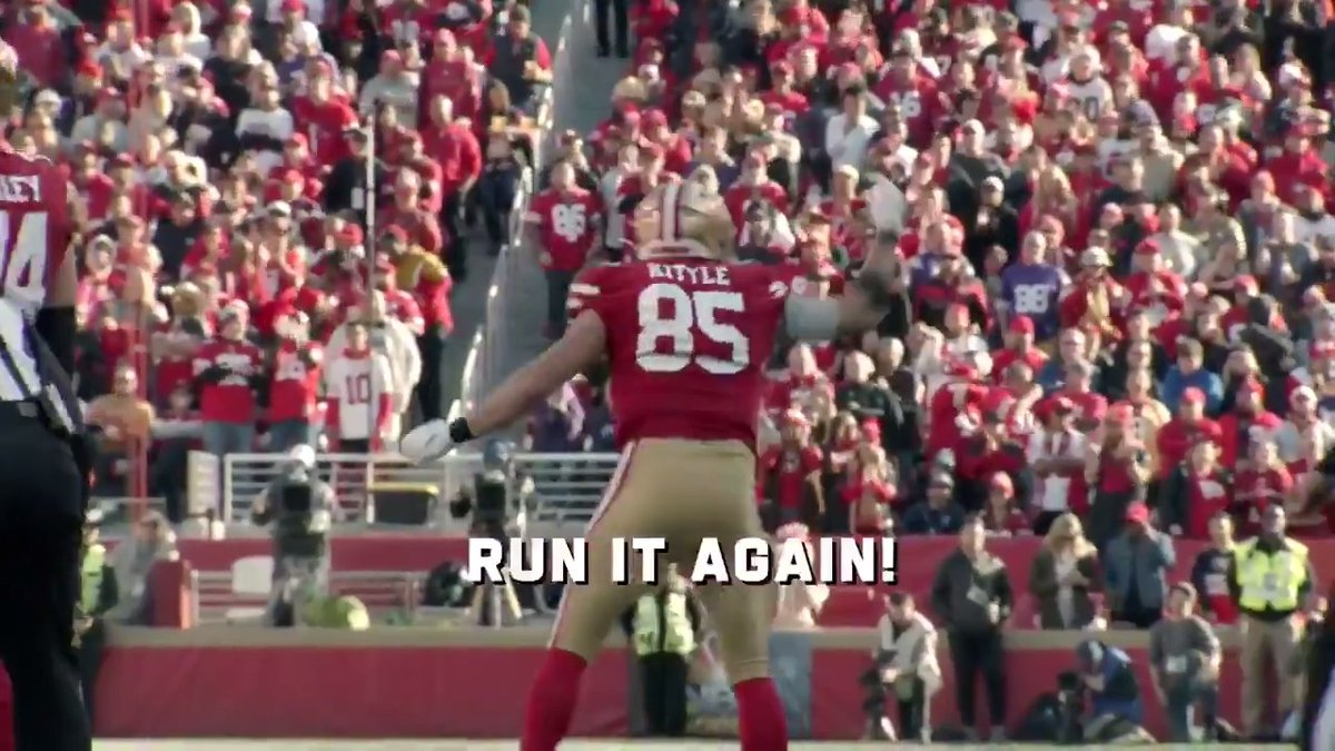 Image for the Tweet beginning: The @49ers don't need to