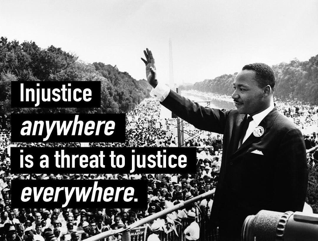 We all have a responsibility to step up & speak up anytime & every time we see injustice