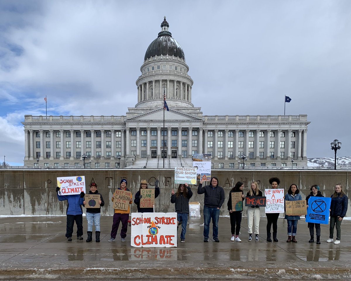 @FFF_UT and I are Striking at the Utah State Capitol Building