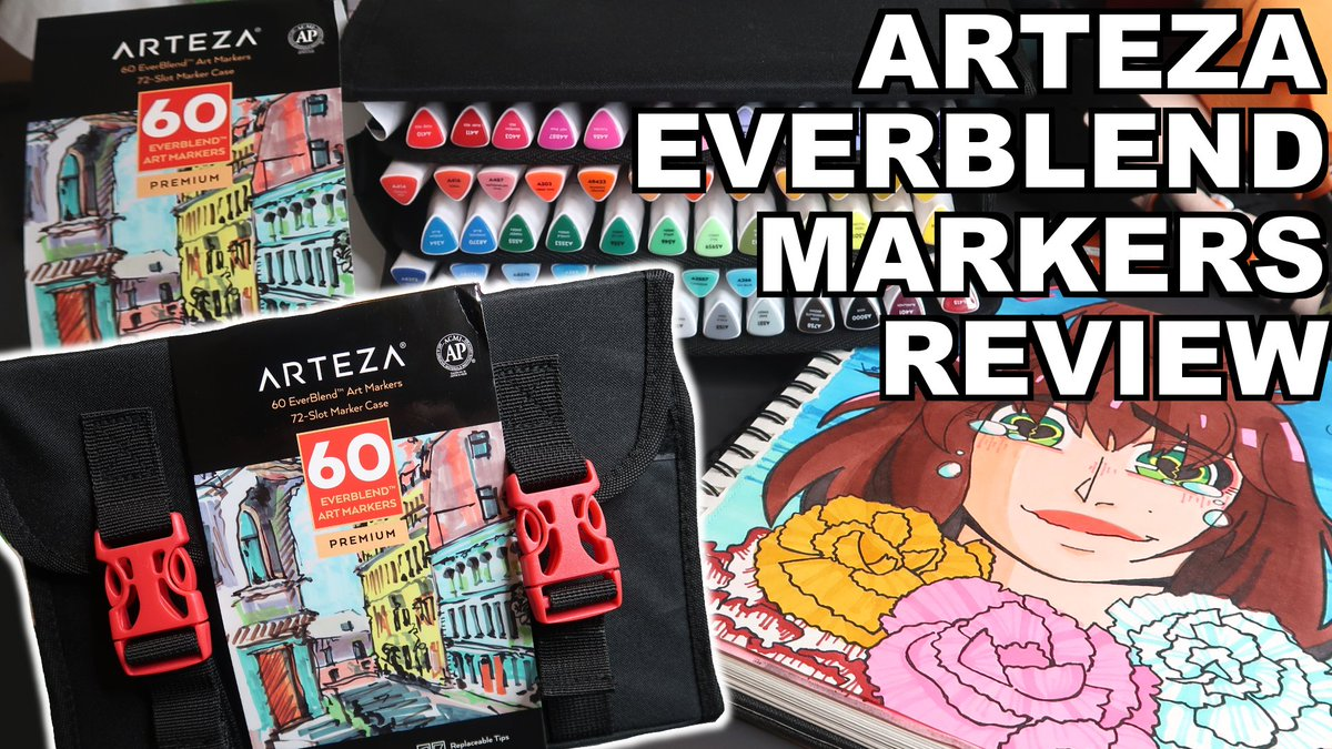 """I GOT TO TRY ARTEZA EVERBLEND MARKERS!! So go watch my review!! ;v; If you want to try out some ARTEZA products you can use code """"LeslieLuMarie1"""" to get 10% off your purchase so go do that!! https://youtu.be/hf7YGrNTGfkpic.twitter.com/UN5KdJkZ87"""