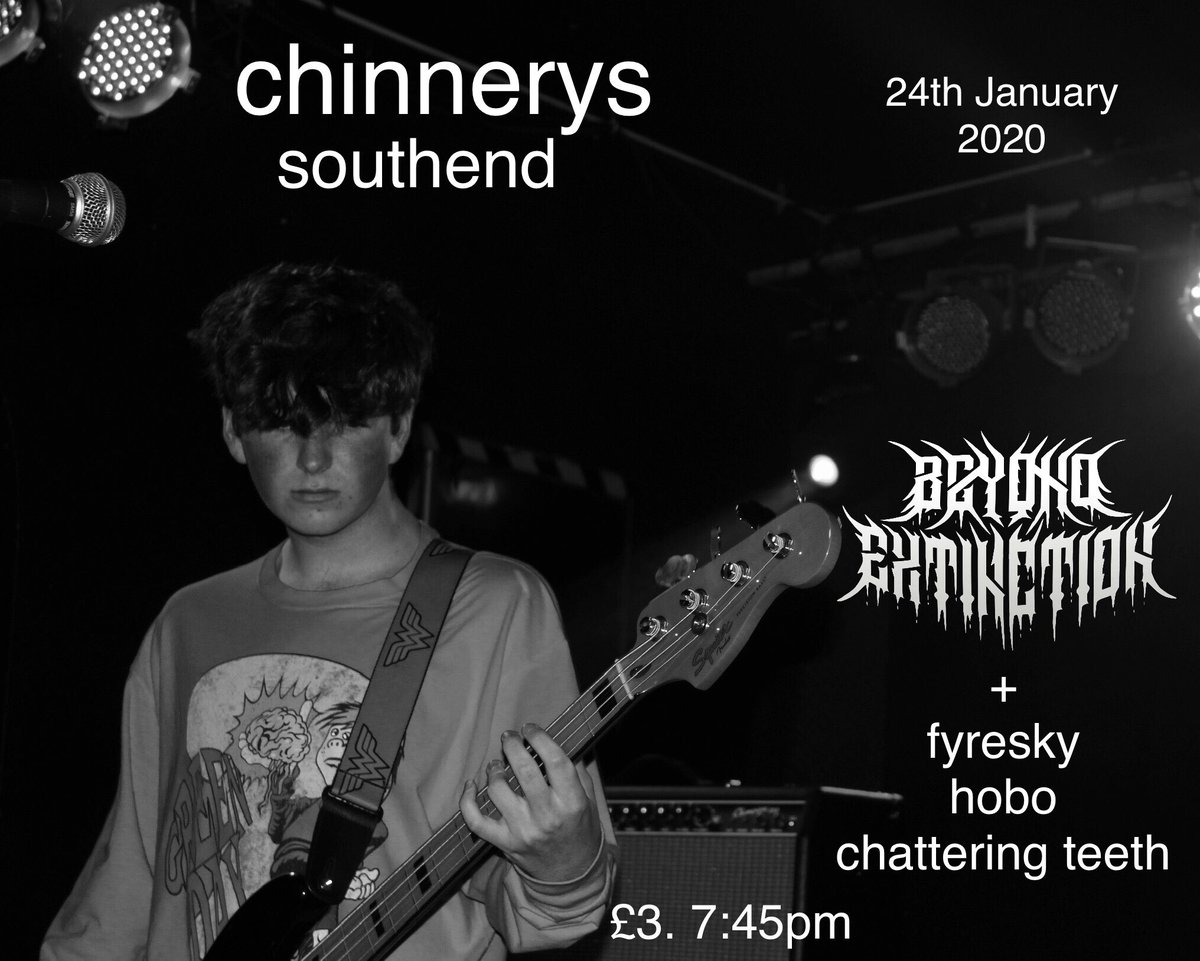 •CHINNERYS SOUTHEND• #essexmusic #essexmusicians #englishmetal #metalheadsofinstagram #metalfans #metalevent #metalshow #metalshows #metalheads #metalhead #livemusic #essexeventspic.twitter.com/DseMSH8qbA