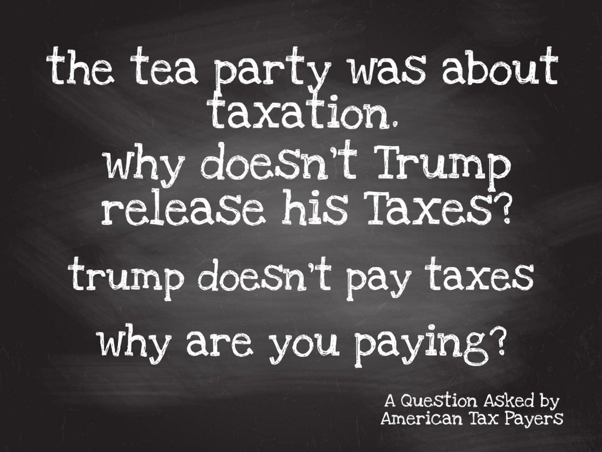 @TeaPainUSA @TeaPartyCat @Mike2020 @realDonaldTrump @HRBlock @JoeBiden @StateDept   With taxes coming up, why do we have to pay Taxes if Our President doesn't? #whyareyoupayin #taxday2020 #notthisyear #TRUMPSTRONGpic.twitter.com/0PXvmDHSyG