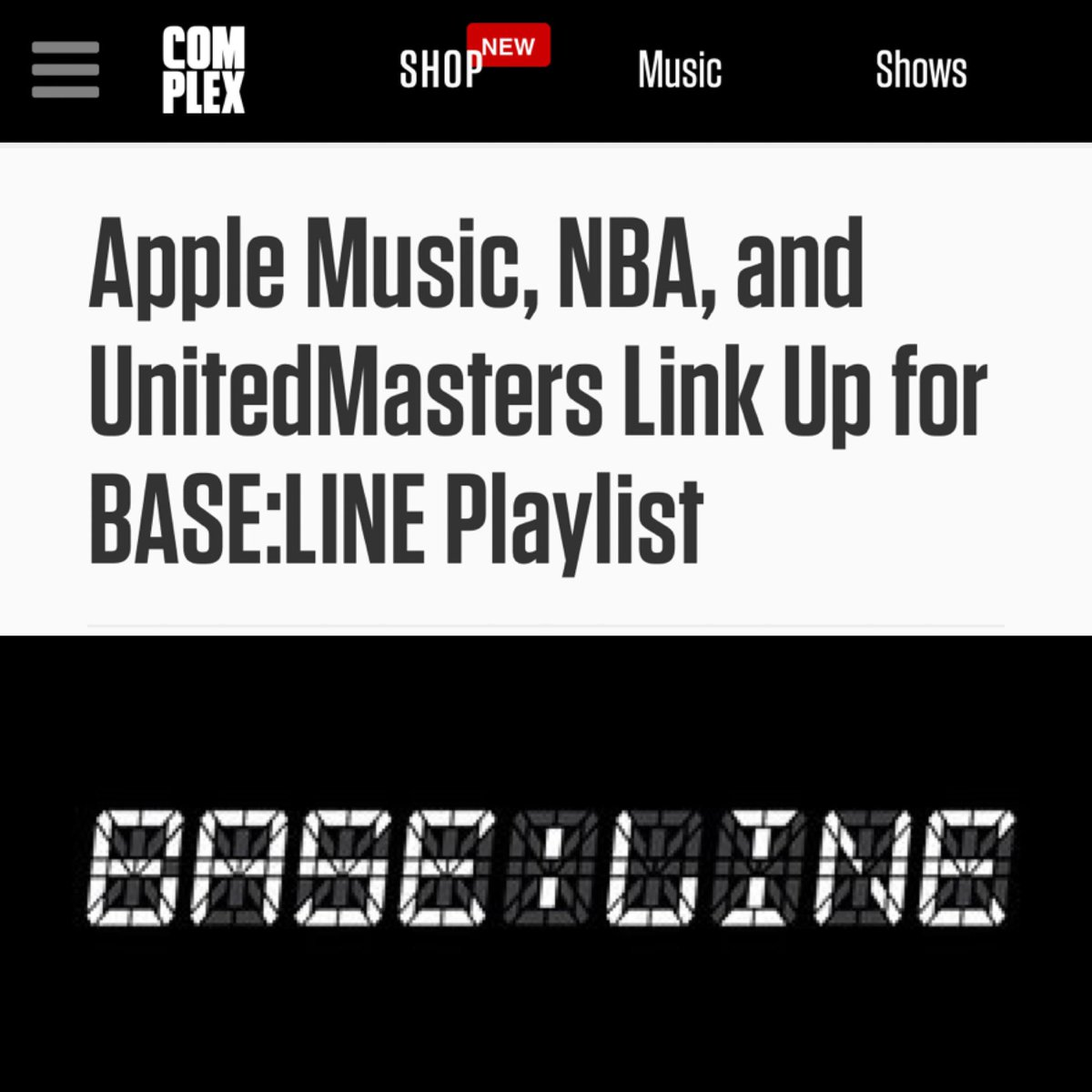 A new opportunity for independent artists. The first playlist of its kind.  Listen to BASE:LINE now exclusively on @AppleMusic: http://apple.co/BASELINE