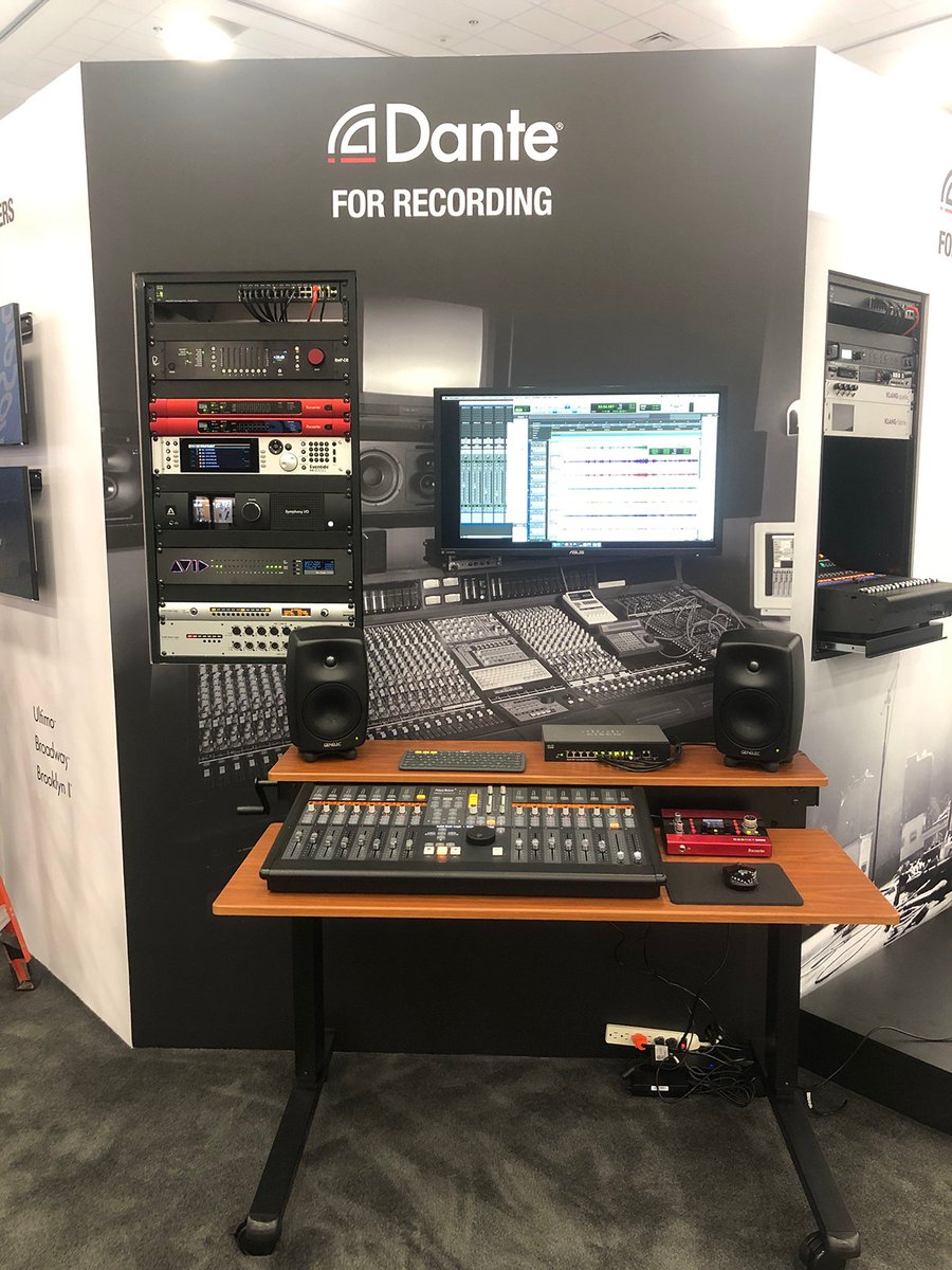 Thank God it's Friday, and Day Two of #NAMMShow 2020! Stop by Booth 18607 to find out how Dante audio networking can be used for recording.
