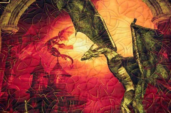 """""""LOVE this #Celtic #Dragon #Quilt great #giftidea for #GiftsforMom, #GiftsforDad, or #GiftsforTeens. Perfect for the #Holidays, #Birthdays, #Graduation or #Anniversary #christmas #christmascountdown #christmasiscoming #handmadechristmas #happychristmas.  https://buff.ly/2BM7ZKppic.twitter.com/tJTAhf0GGC"""