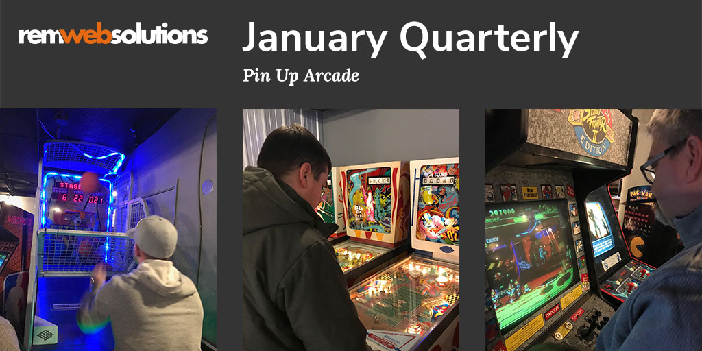For our first 2020 team-building event , we went to @ArcadePin in Waterloo. Check out our blog post to read more, see photos and a video. #remteam #remwebsolutions #teambuilding #pinuparcadebar #arcadebar #arcade #kwawesome #uptownwaterloo  http://ow.ly/CsKb50xYsf6pic.twitter.com/X6gAiXo52H