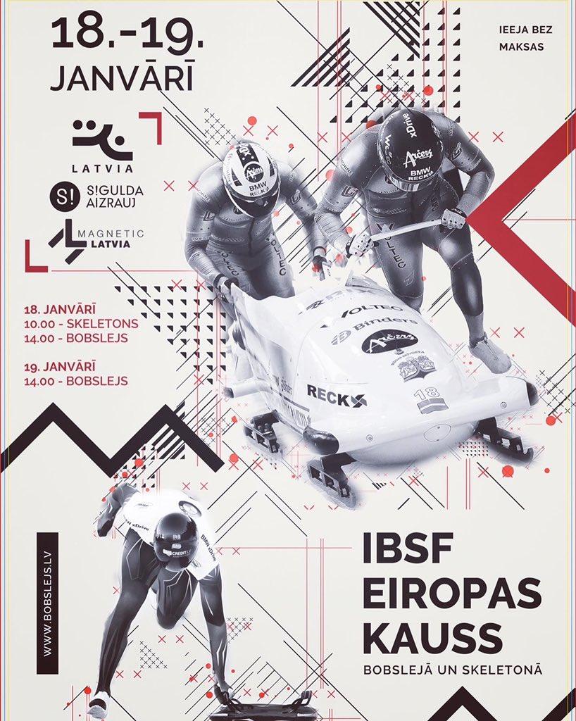 Sestdien visi uz Siguldu!   18.janvārī, jaun no pulksten 10.00, Siguldas bobsleja trasē notiks Eiropas Kausa Siguldas posma izcīņa bobsleja divniekiem un skeletonā.  Atbalsti klātienē! #IBSF #skeletonLv #bobslejsLV #EuropeCup #EuropeCupSigulda #skeletonsport #slidingpic.twitter.com/GjOmrKqaKJ