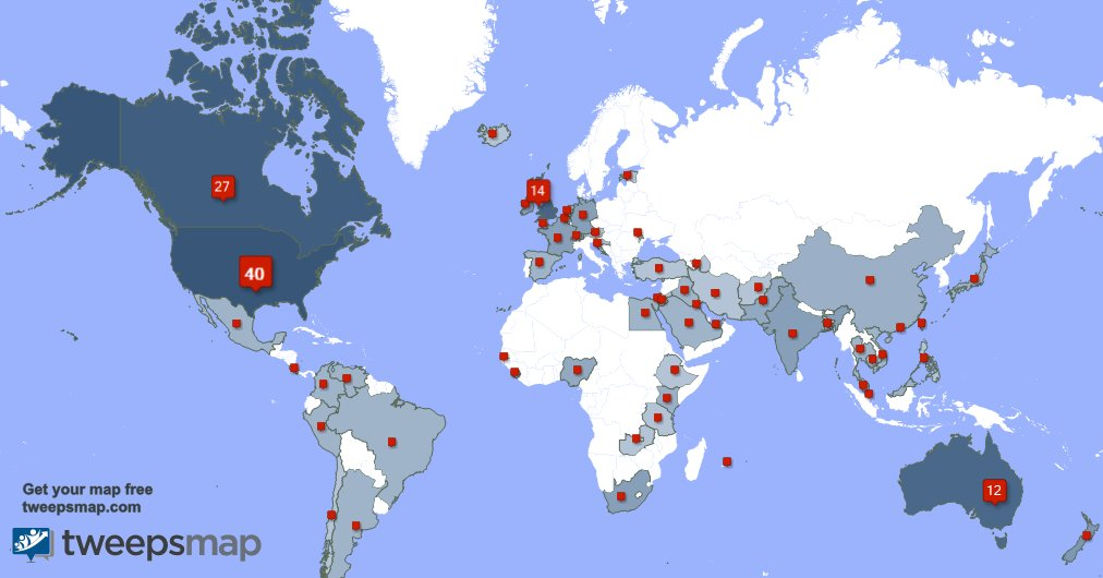 Special thank you to my 38 new followers from USA, UK., Australia, and more last week. tweepsmap.com/!SaraJPeden