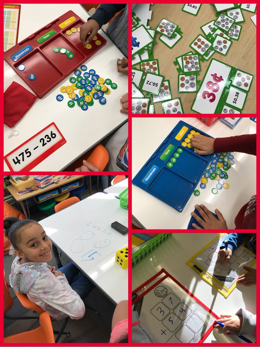 Differentiated #Math Center ❤️#grateful #secondgrade @pvdschools