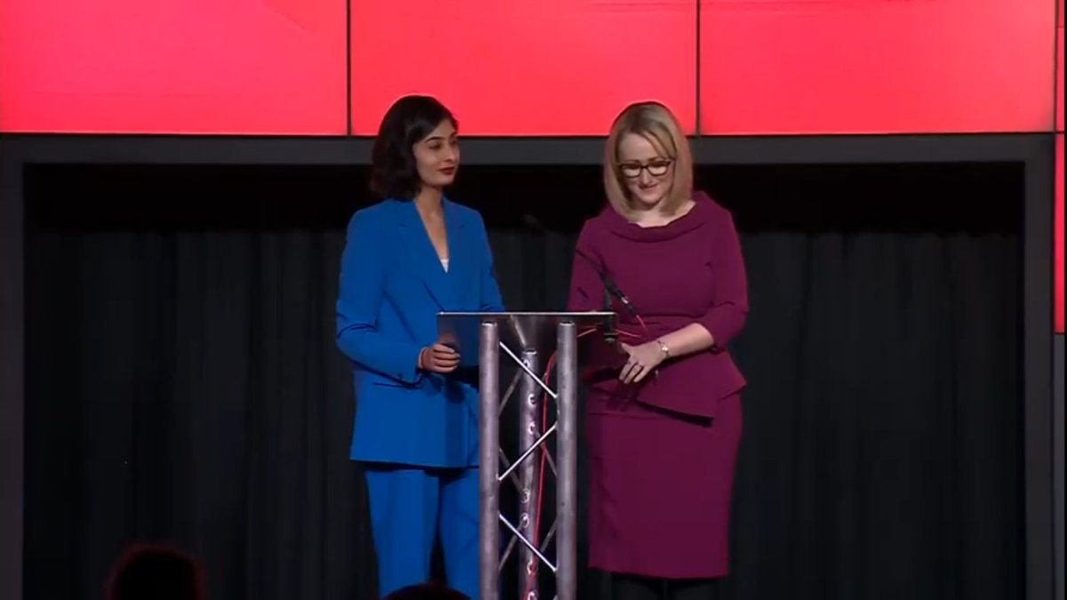 Rebecca Long Bailey/Long-Bailey there, launching her leadership campaign with new MP Zarah Sultana, who once said she'd celebrate the death of Tony Blair. So the party's learned its lessons then.