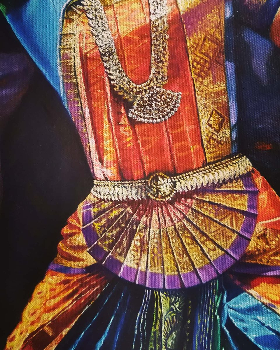 New #composition in progress  #oil on #Canvas #figurative #work #Indian #classical #dancer #Kuchipudi #dancing #pose @rajeevartinnovitypic.twitter.com/dXyREmSEwW