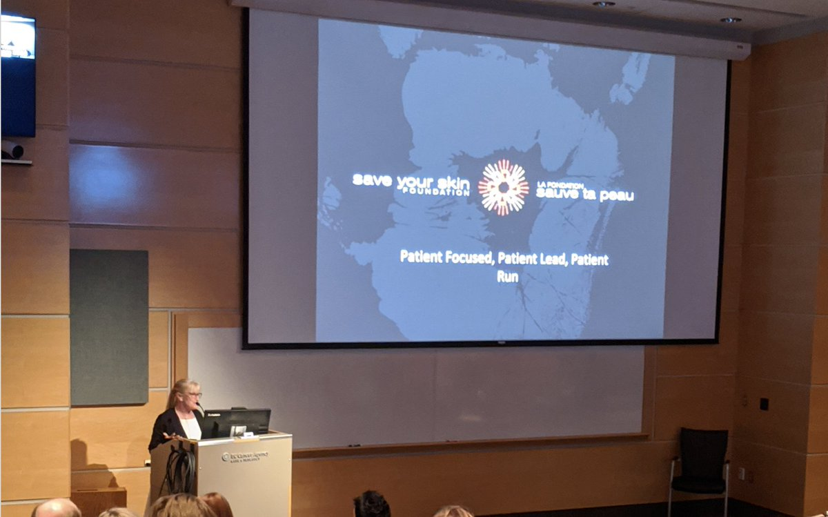 Kathy Barnard at the BC Cancer Agency presenting on behalf of SYSF to varied Health Care Providers on patient needs and representation. #skincancer #Melanoma #patientsfirstpic.twitter.com/31lbvshIkz