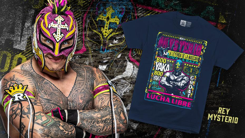 Booyaka! @reymysterio tee available now at #WWEShop. #WWE #ReyMysteriohttp://bit.ly/3641Cir